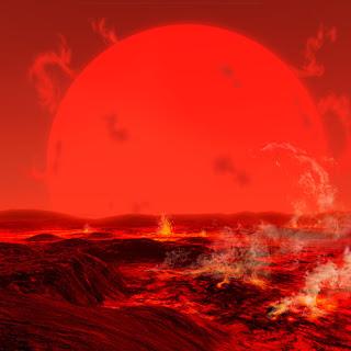 Resultado de imagen de A la muerte del Sol la gigante roja engulle Mercurio y Venus