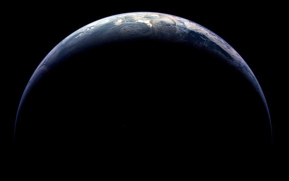 La tierra desde fuera, de noche