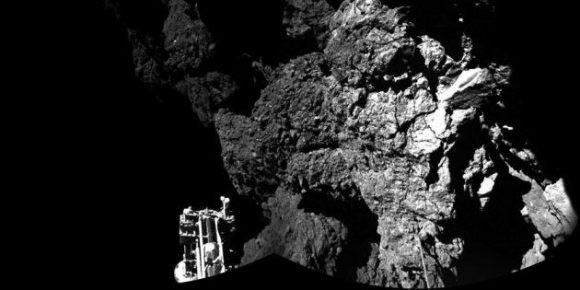 La superficie del cometa 67P vista desde Philae (ESA/CIVA).