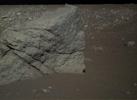 Vista de una de las rocas que rodeaba a la CE-3.