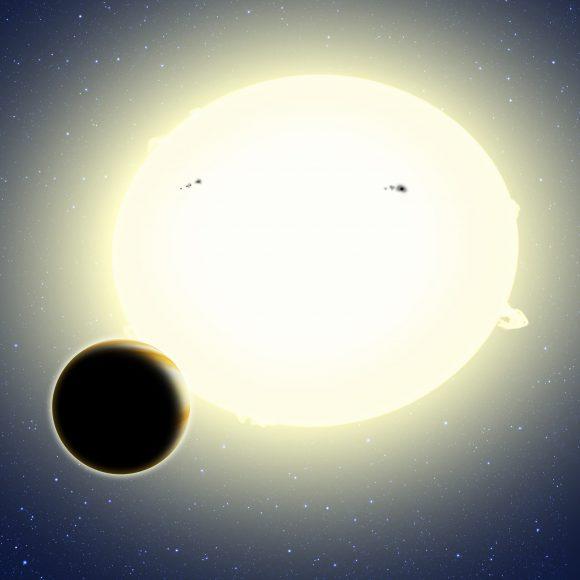 Representación artística del nuevo planeta (http://www.cfa.harvard.edu/).