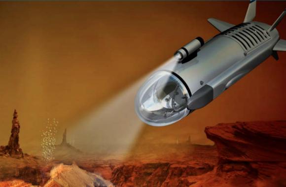 Diseño original del submarino del NIAC (NASA/NIAC).