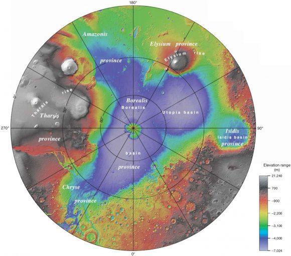 Vastitas Borealis, la gran planicie del hemisferio norte marciano (NASA).