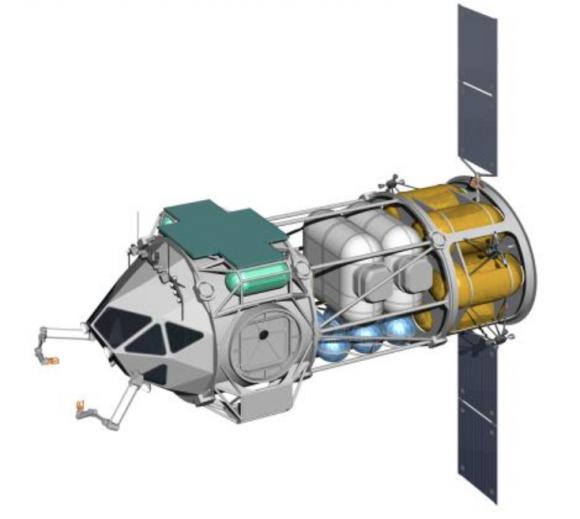 Vehículo PEV con un módulo de servicio para acceder a la superficie (NASA).