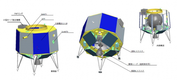 Partes de la sonda (ISAS/JAXA).