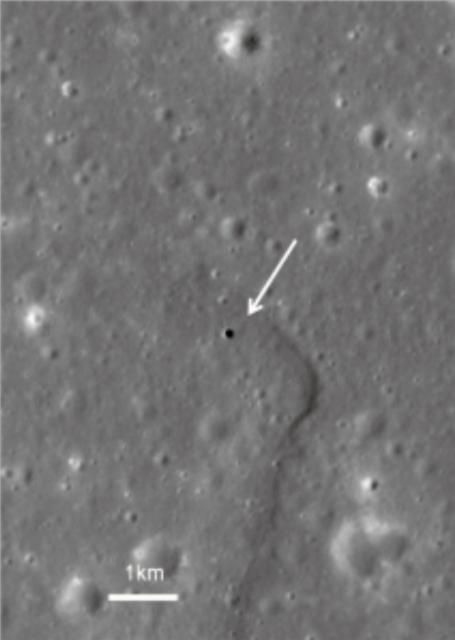 Cueva lunar de las colinas Marius, objetivo de SLIM (JAXA).