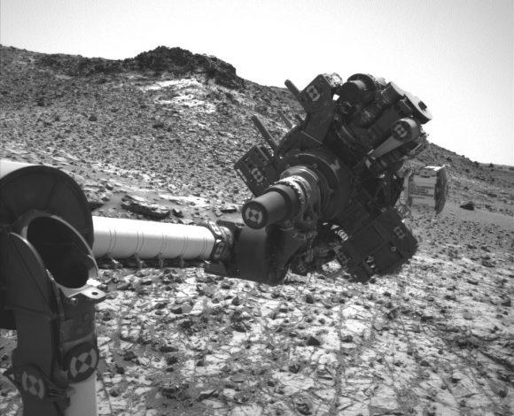 El brazo tras el cortocircuito en una imagen de Navcam ().