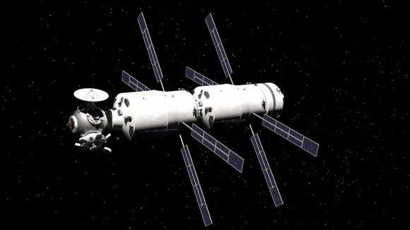 Nave interplanetaria para sobrevolar Venus y Marte formada por dos ATV modificados, un nodo y una Cupola (la cápsula Soyuz no se y está en el interior de los ATV) (Aleksandr Khokhlov).