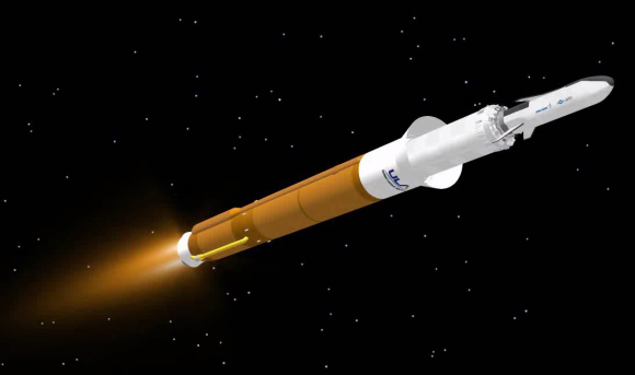 Configuración de lanzamiento una vez separada la cofia (ULA).