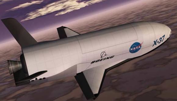 Recreación idealizada del X-37B (ULA).