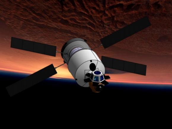 Nave interplanetaria propuesta por el equipo de Khokhlov para Inspiration Mars (Aleksandr Khokhlov).
