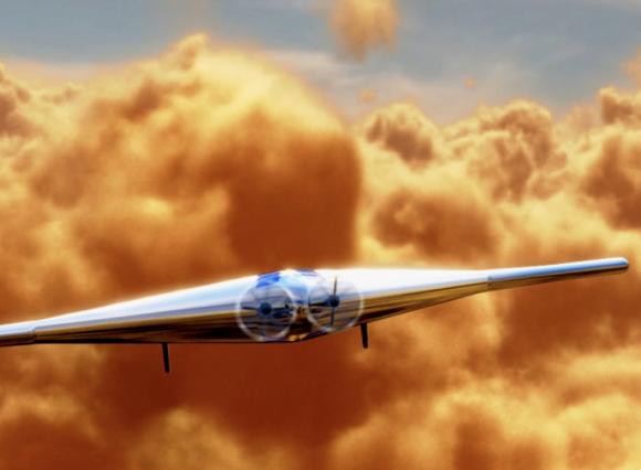 VAMP volando en Venus (Northrop Grumman)