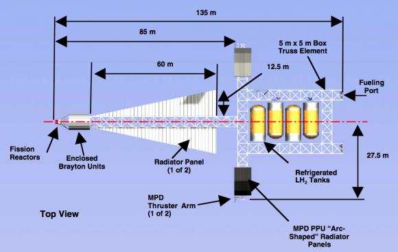 Partes de la nave de combustible (NASA).