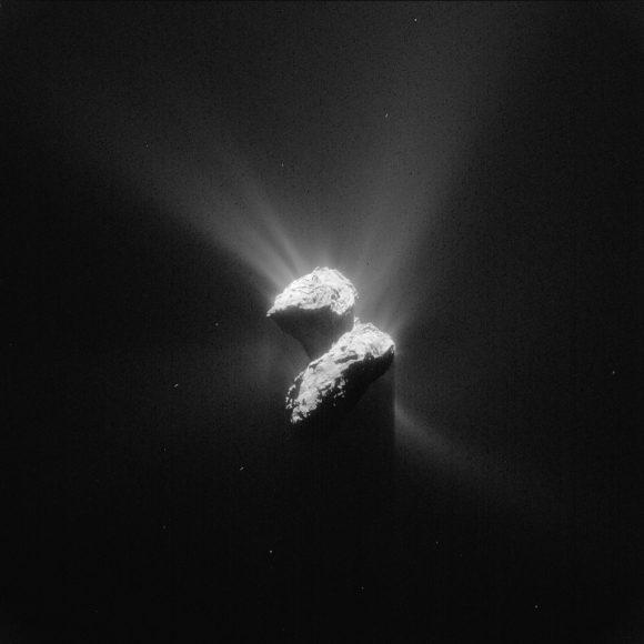 Chury está mucho activo ahora que cuando aterrizó Philae (ESA/NAVCAM).