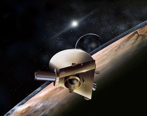 Diseño original de la sonda New Horizons (Dan Durda/APL-JHU/NASA).