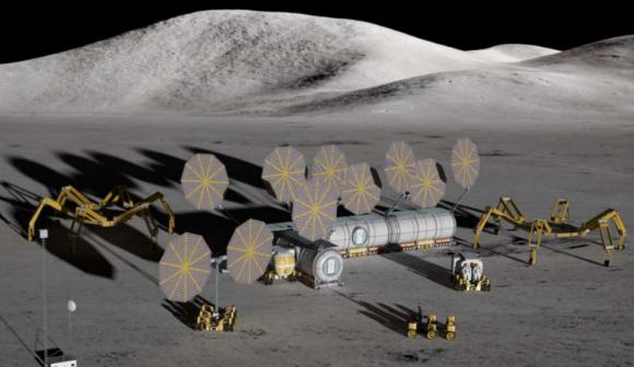 Base lunar modular propuesta para el programa Constelación (NASA).