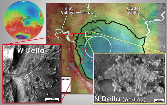 Cráter Jezero (NASA).