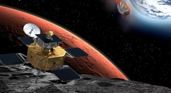 Diseño original de la misión PHOOTPRINT para traer muestras de Fobos a la Tierra (ESA).