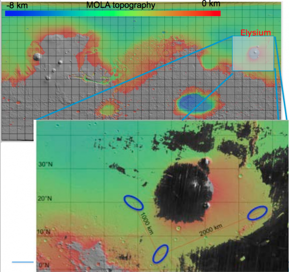 Zonas de aterrizaje de las sondas de superficie (ESA).