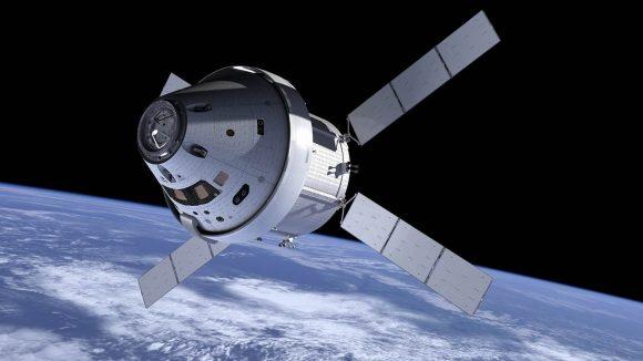 Nave Orión de la NASA con el módulo de servicio europeo (NASA).