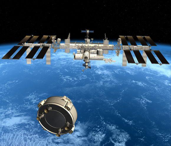 La CST-100 de Boeing se acerca a la ISS (Boeing).