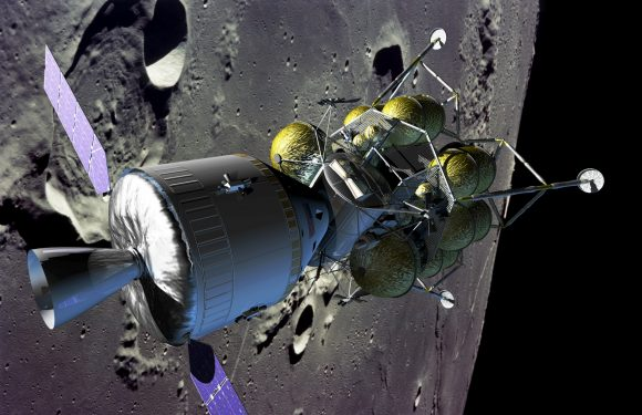 Configuración de 2005 del conjunto Orión/Altair (NASA).