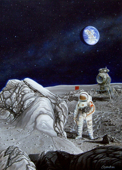 (http://skrainev.deviantart.com/art/1975-Leonov-on-the-Moon-173543141).