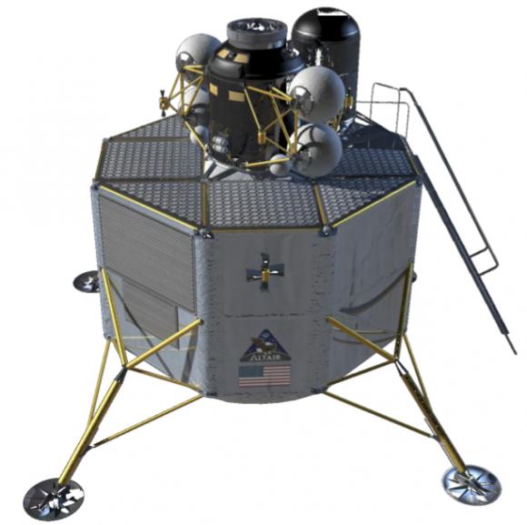 Versión de 2008 del módulo lunar Altair (NASA).