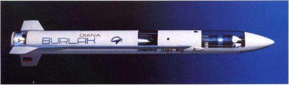 Maqueta del Burlak/Diana.