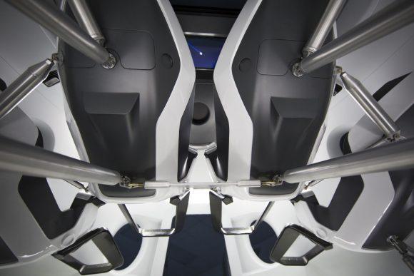 Detalle de los asientos (SpaceX).