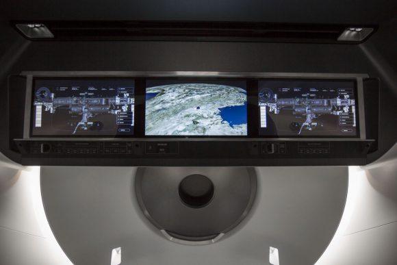 Detalle del panel de control (SpaceX).