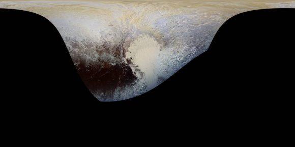 Superficie de Plutón cubierta por la imagen anterior (NASA/JHUAPL/SWRI).