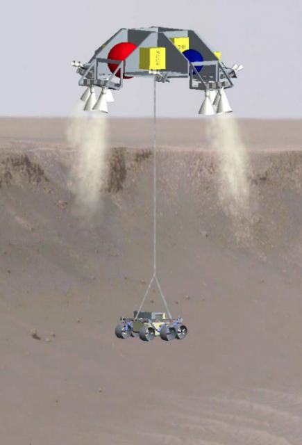 MELOS, el rover japonés que aterrizará como Curiosity (JAXA).