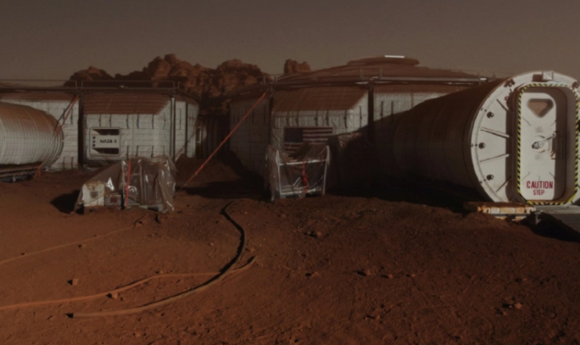 Exterior del hábitat de The Martian (20th Century Fox).