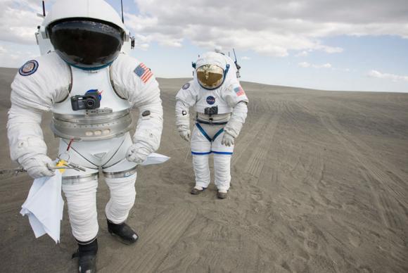 Diseños de auténticos trajes marcianos (NASA).