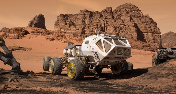 Rover que emplea Watney en The Martian (20th Century Fox).