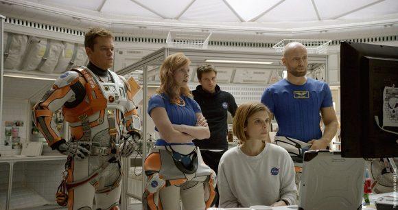 Interior del hábitat de The Martian (20th Century Fox).