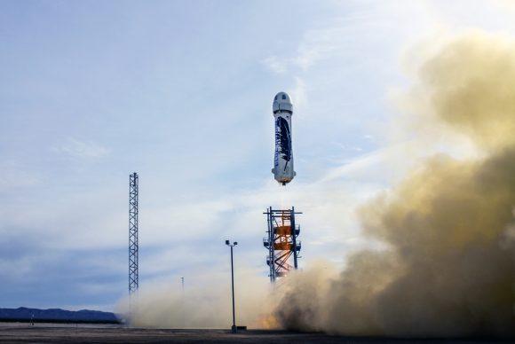 Momento del lanzamiento (Blue Origin).