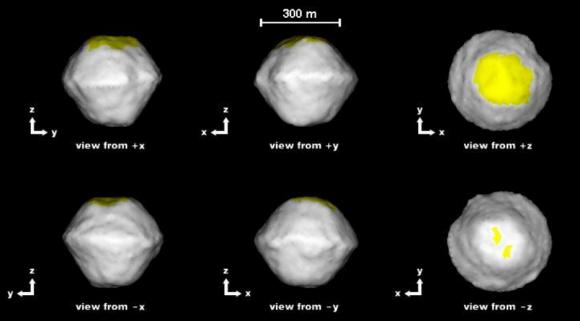 Modelo del asteroide 2008 EV5 (NASA).