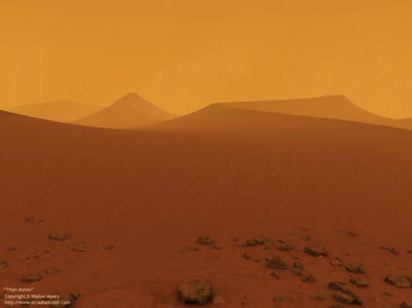 Otra visión de las dunas de Titán (Walter Myers).