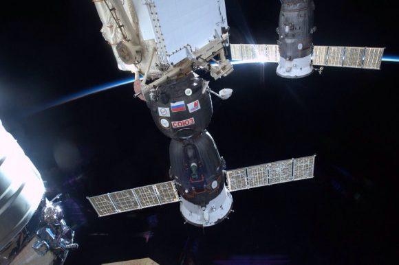 La Soyuz TMA-19M felizmente acoplada a la ISS (NASA).