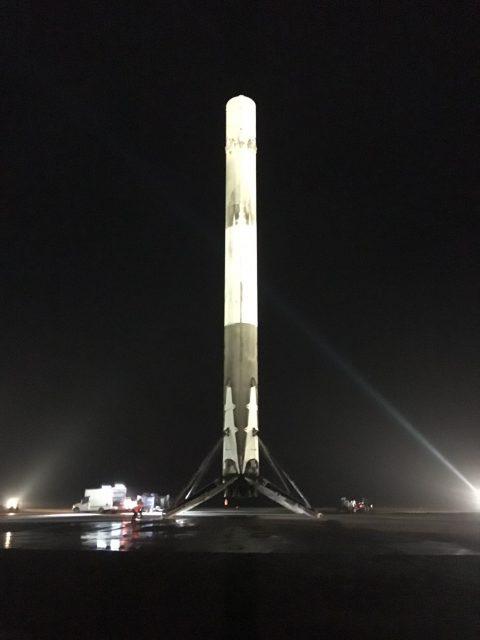 La primera etapa tras el aterrizaje (SpaceX).
