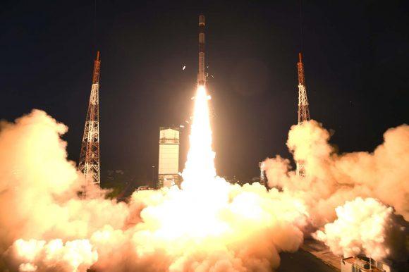 Lanzamiento del PSLV de la misión (ISRO).