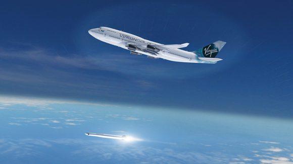 LauncherOne lanzado desde Cosmic Girl (Virgin Galactic).