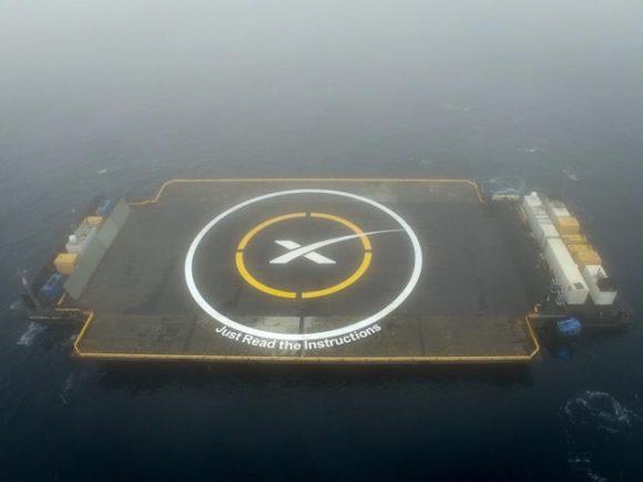 Imagen de la barcaza ASDS (SpaceX).