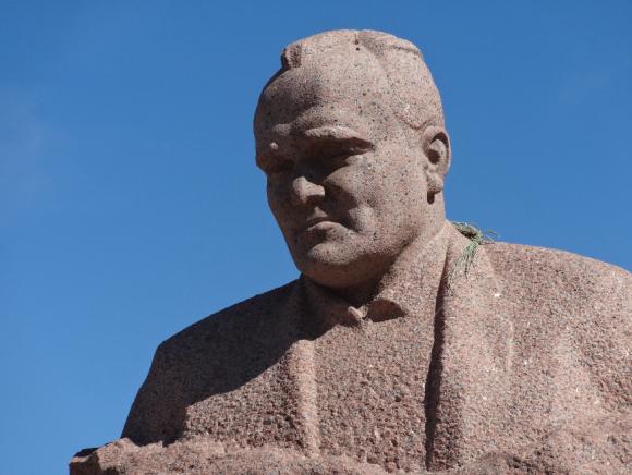 Busto de Koroliov en Baikonur (Eureka).