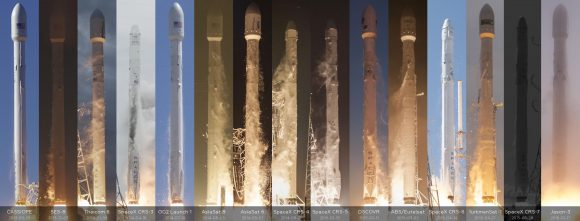 Todos los lanzamientos del Falcon 9 v1.1.