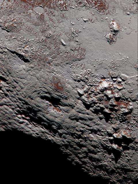 Wright Mons, el principal candidato a criovolcán de Plutón ().