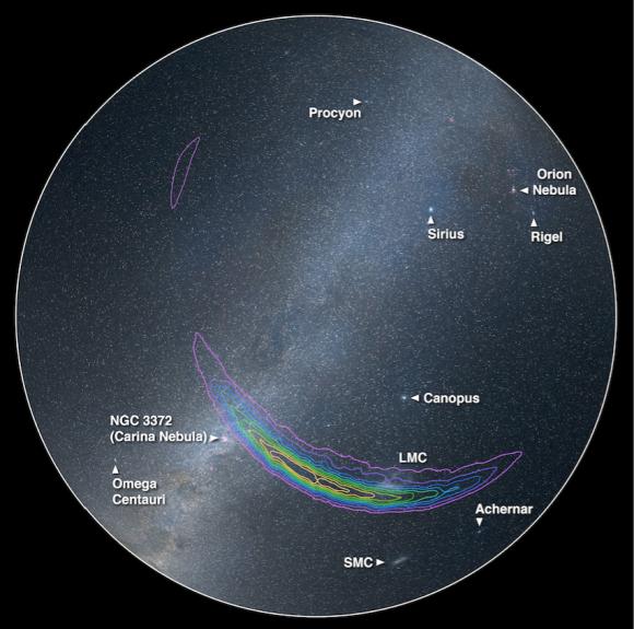 Región del cielo de donde pudo venir la señal ().