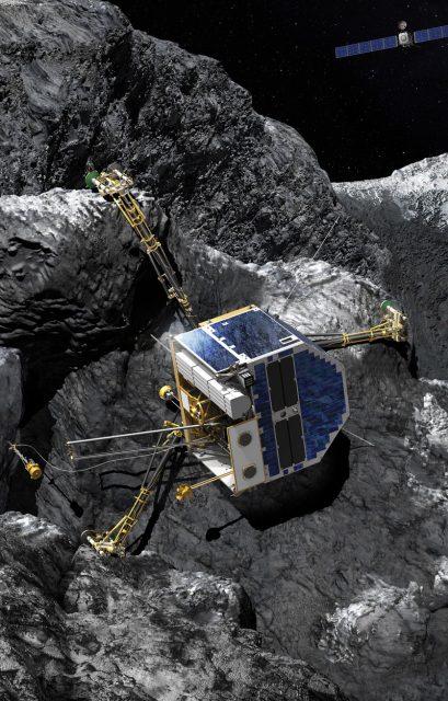 Última posición de Philae sobre la superficie de Chury reconstruida a partir de las imágenes (CNES).